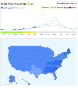 Google Flu Trends pour suivre la grippe aux USA