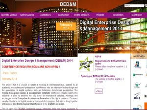 Une nouvelle conférence de Digital Enterprise Design : DEDM 2014